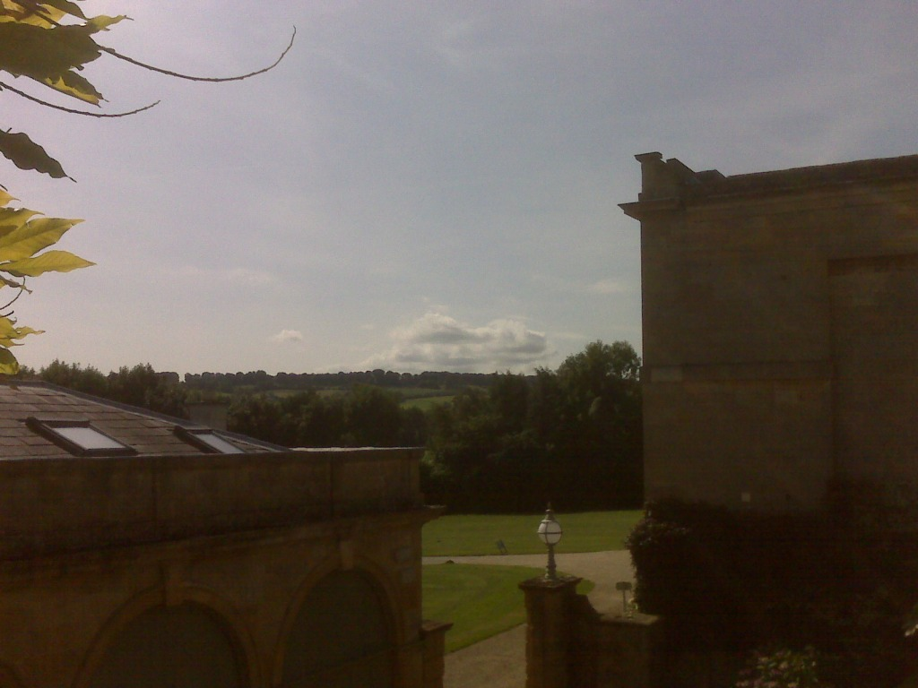 view over the coach house